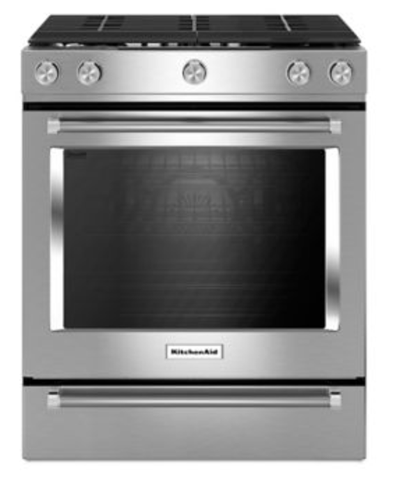 Kitchenaid 30-Inch 5-Burner Gas Slide-In Convection Range