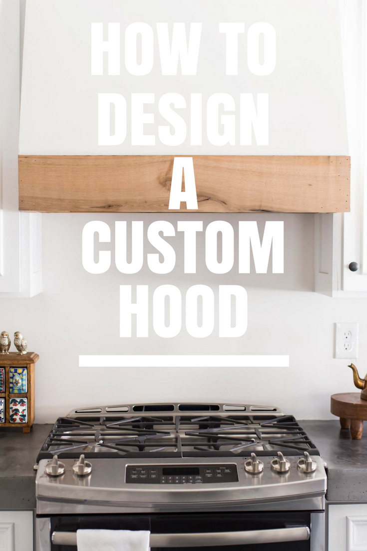 how to build a custom range hood