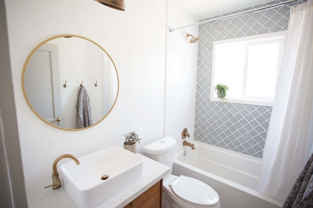 Before U0026 After: Eclectic Spanish Modern Bathroom U2014 FlippinWendy Design