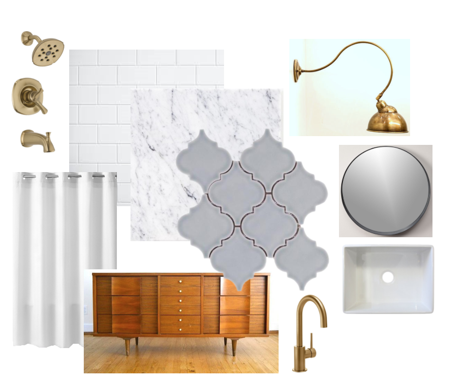 Almeria bathroom design board