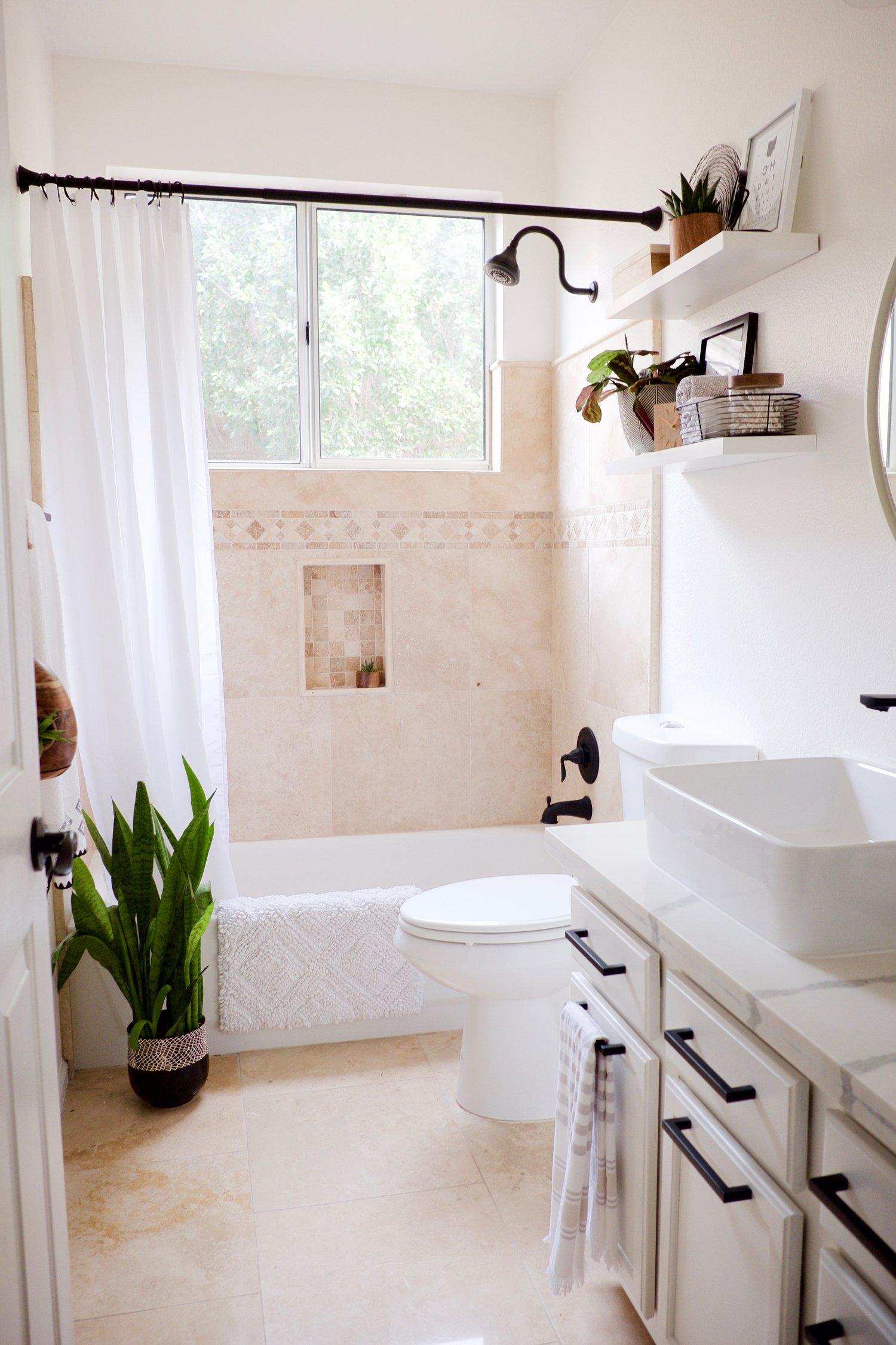 Bathroom Makeover Travertine Tune Up Flippinwendy