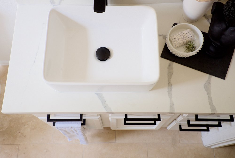 Bathroom Makeover: Travertine Tune Up — FlippinWendy Design