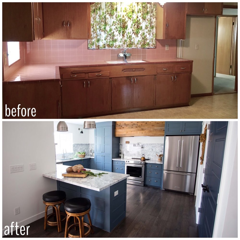 House flipping kitchen before and after