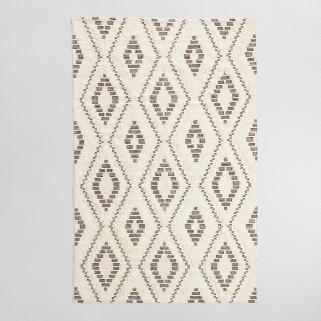 Ivory Brown Shag World Market Rug FlippinWendy Update Don't Renovate Challenge
