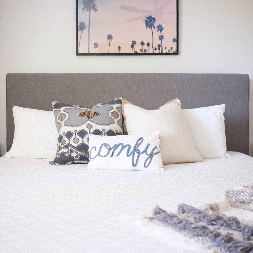 Comfy Cactus Airbnb Condo Master Bedroom Jenny's Print Shop Juniper