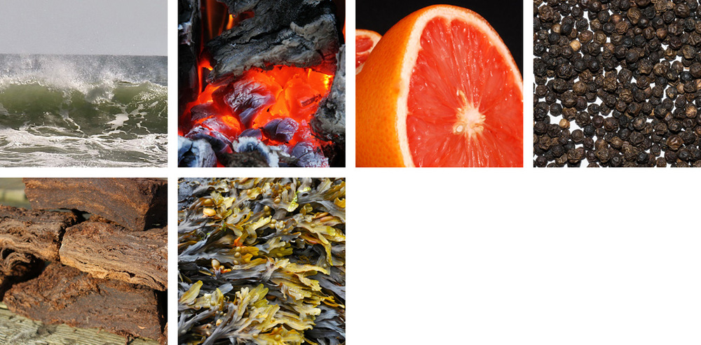 Seasalt / Campfire / Grapefruit / Peppercorn / Peat / Seaweed