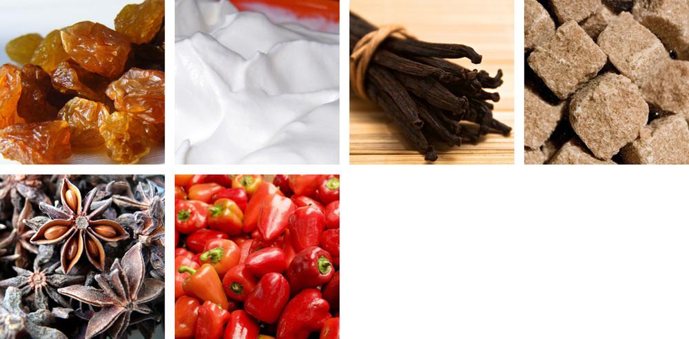 Raisin / Cream / Vanilla / Brown Sugar / Star Anise / Pimiento Pepper