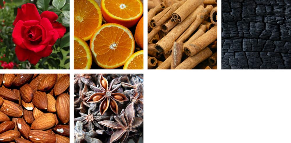 Rose / Orange / Cinnamon / Oak Char / Almond / Anise
