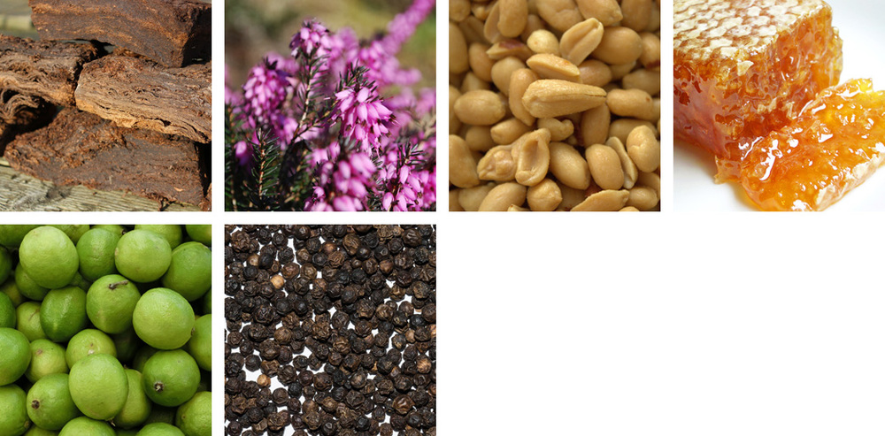 peat / heather / peanut / honey / lime / peppercorn