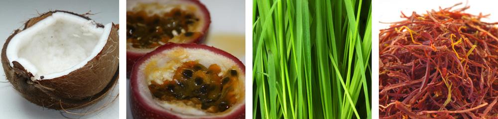 coconut / passionfruit / grass / saffron