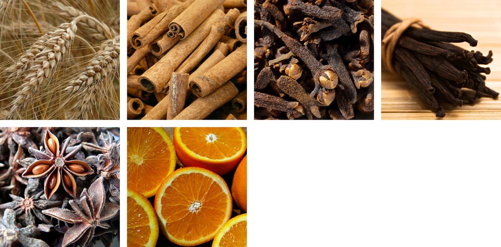 Rye / Cinnamon / Clove / Vanilla / Anise / Orange