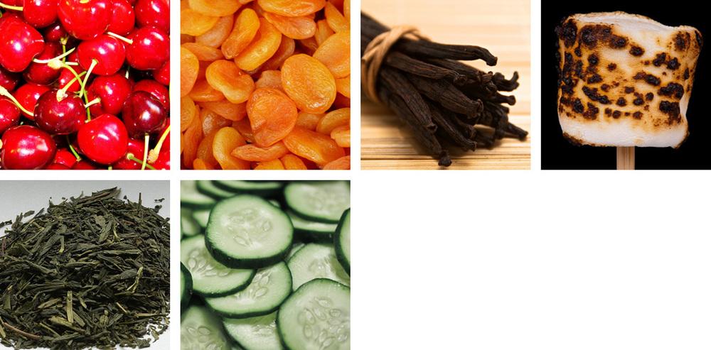 Cherry / Apricot / Vanilla / Marshmallow / Tea / Cucumber