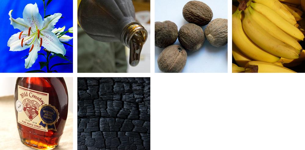 Lilies / Molasses / Nutmeg / Banana / Maple / Oak Char