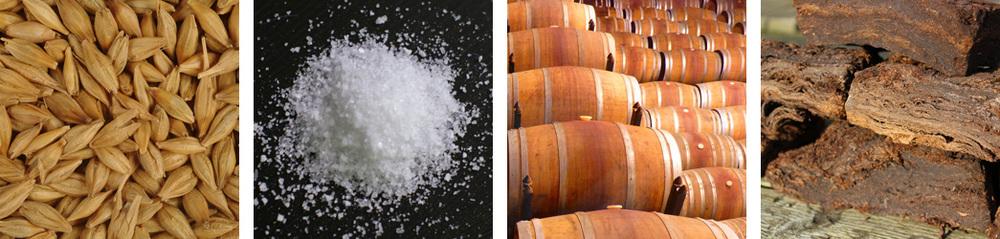 Barley malt / Sea Salt / Tannin / Peat