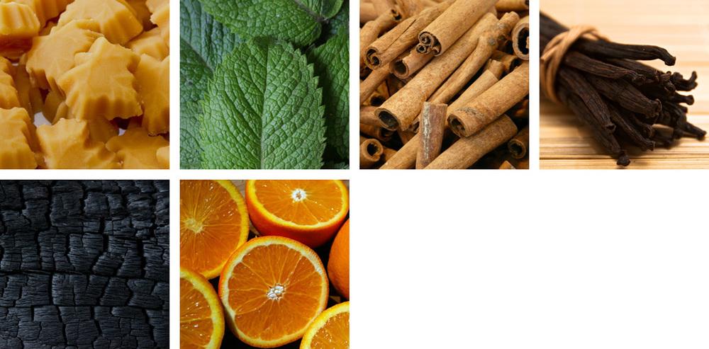 Maple / Mint / Cinnamon / Vanilla / Oak Char / Orange