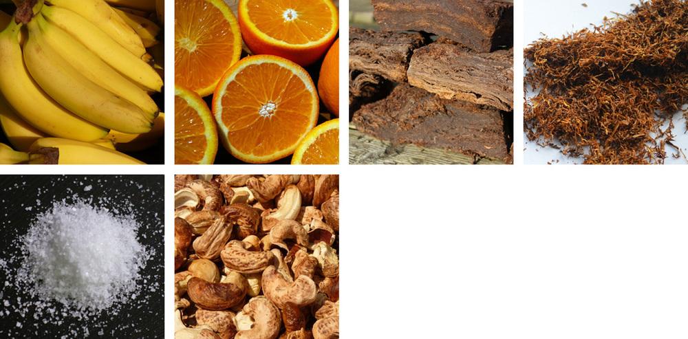 Banana / Orange / Peat / Tobacco / Salt / Cashews