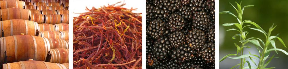 oak tannin / saffron / blackberry / tarragon