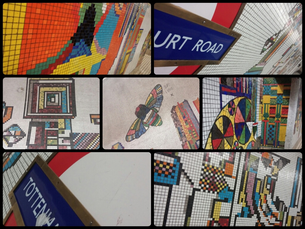 """This was my """"WHY I LOVE LONDON #18""""The vibrant art work of Tottenham Court Rd Station really caught my eye."""