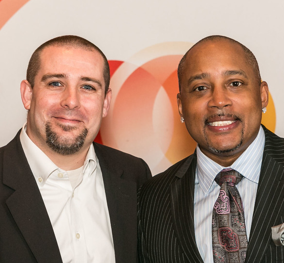 gameFI founder Matt Davis with Shark Tank's Daymond John. (Photo:  Victor Goodpasture )