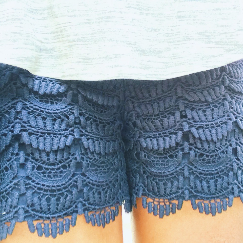 "Lindsey calls these shorts ""leg doilies"". Not 100% sure that's a compliment, but I love these!"