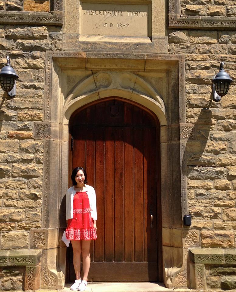 Maddie Kim at Kenyon's Asenscion Hall