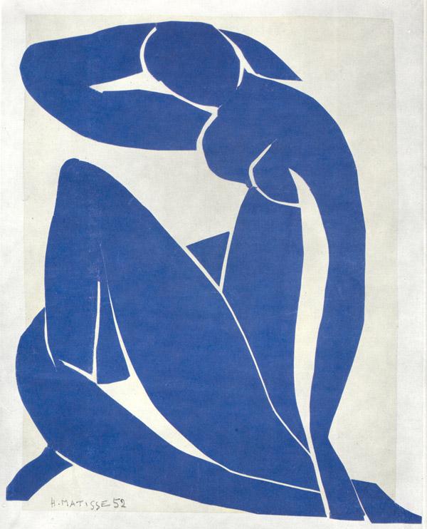 Blue Nude , Henri Matisse (1952). Image Courtesy of Artist.