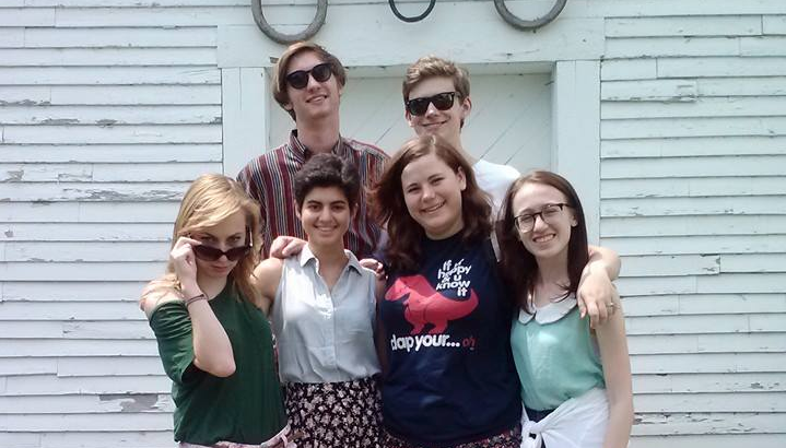 From left to right: Elizabeth Ballou, Miles Hewitt, Talin Tahajian, Katherine Frain, Peter LaBerge, and Alexa Derman.