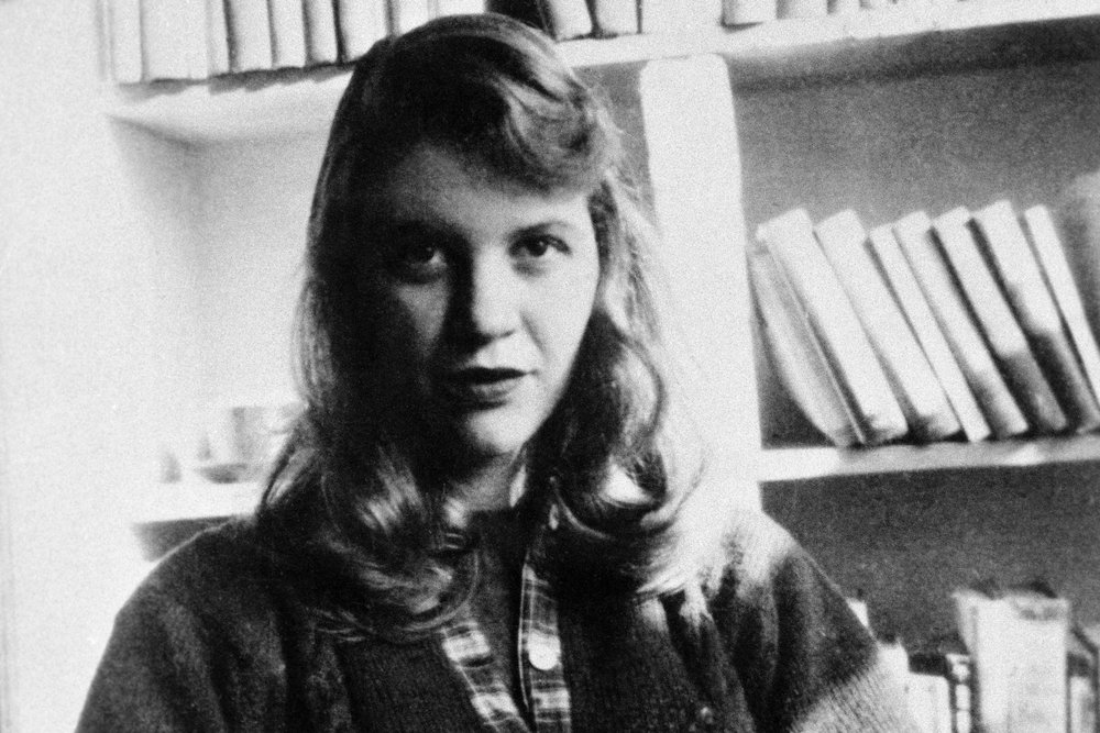 Sylvia Plath, noted confessional poet. Photo via The Daily Beast.
