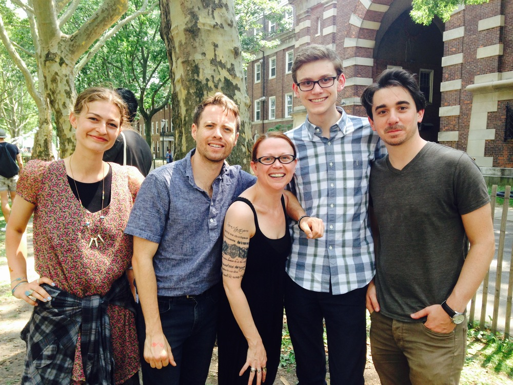 From left to right: Laura Romeyn, Keegan Lester, Jeanann Verlee, Peter LaBerge, & Joseph Fasano.