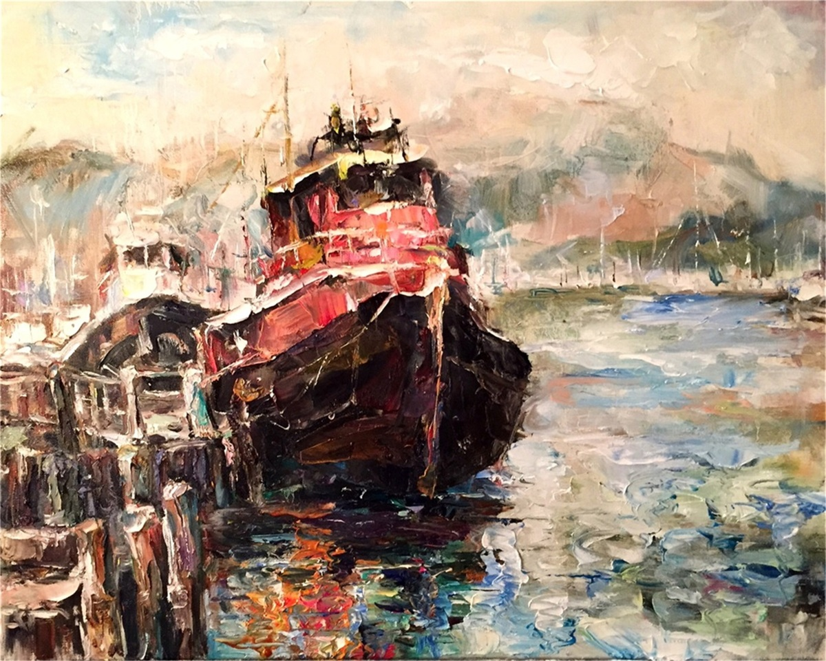 """ Sausalito Harbor "" by Anton Zhou"