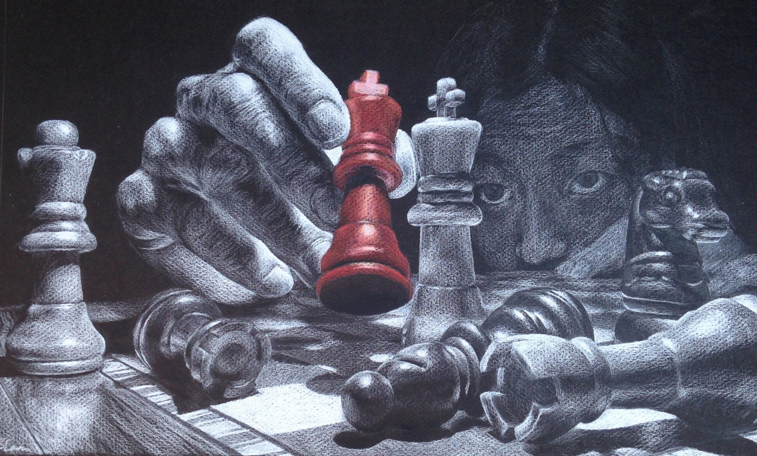 """ Checkmate "" by Stephanie Lam"
