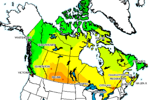 Source   : NRCan  PV Mapper