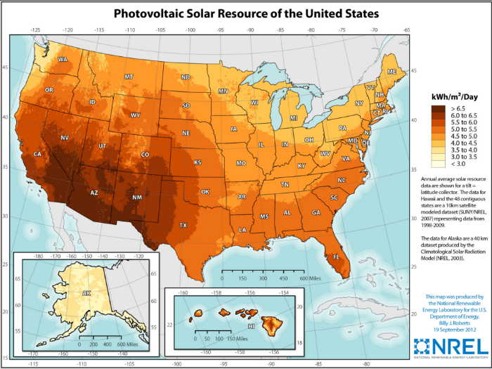 Source   : US National Renewable Energy Laboratory