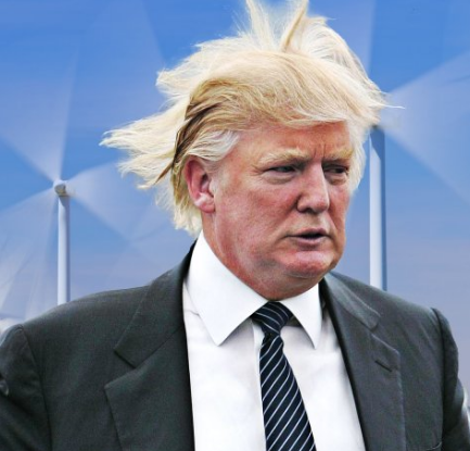 Source   : The Daily Beast ' Donald Trump Hates Windmills More Than Hilary Clinton '. 8 May 2016