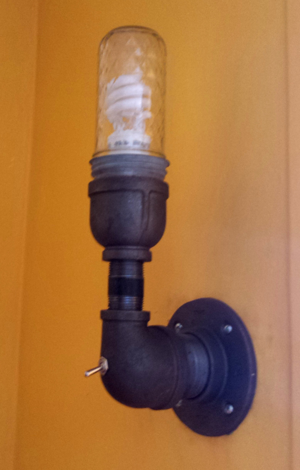 Curl up and diy for Diy conduit light fixture