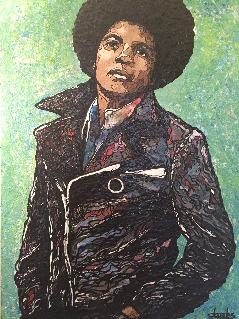 "Young MJ   2014 acrylic on canvas 30"" x 40"""