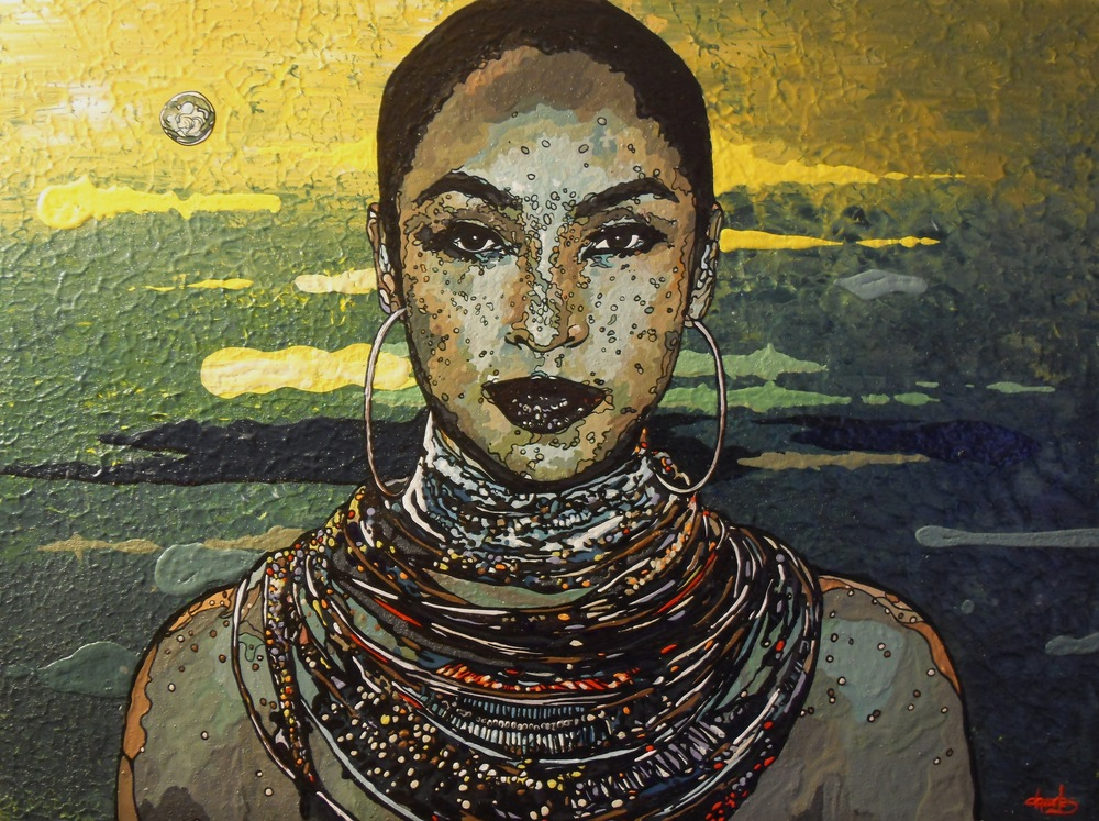 "Sade  2014 acrylic on canvas 40"" x 52"""