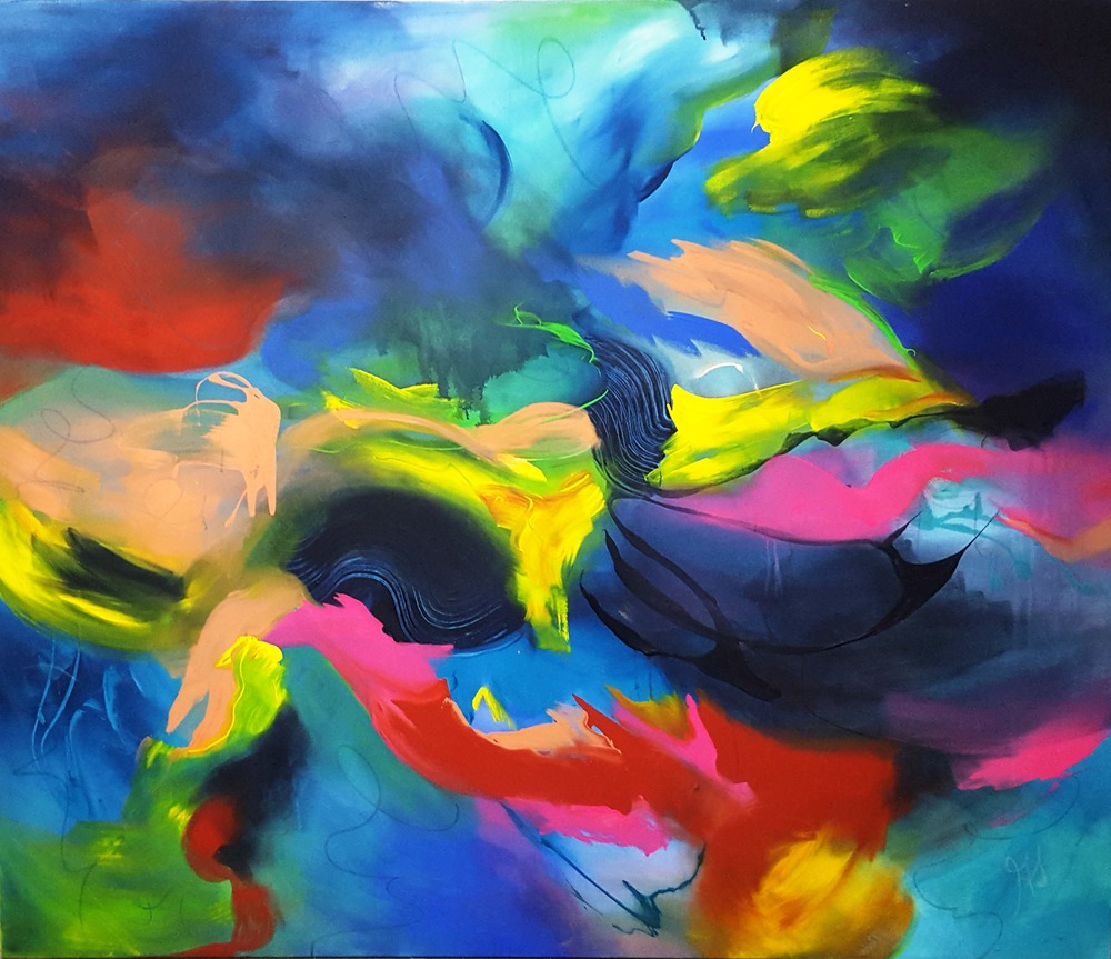 Colorful Flight   2010 acrylic on canvas 190cm x 160cm