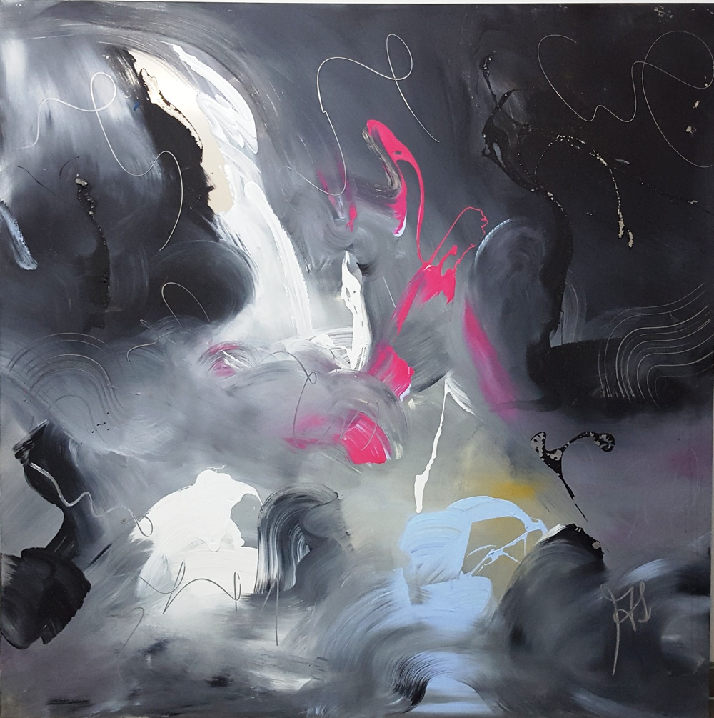 Swan   2010 acrylic on metal plate 150cm x 150cm