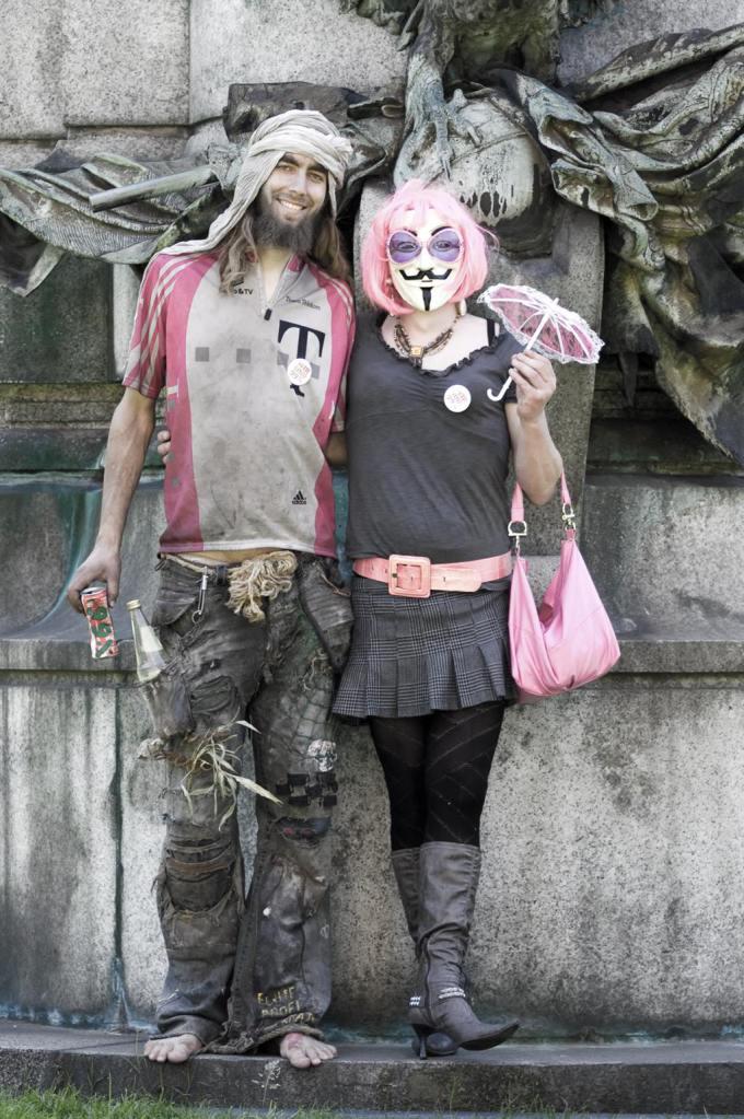 1% liebt 99% - Protestkunst auf der Kö in Düsseldorf (2015), photograph