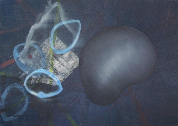 STRW #2 (2014), oil and mixed media on canvas