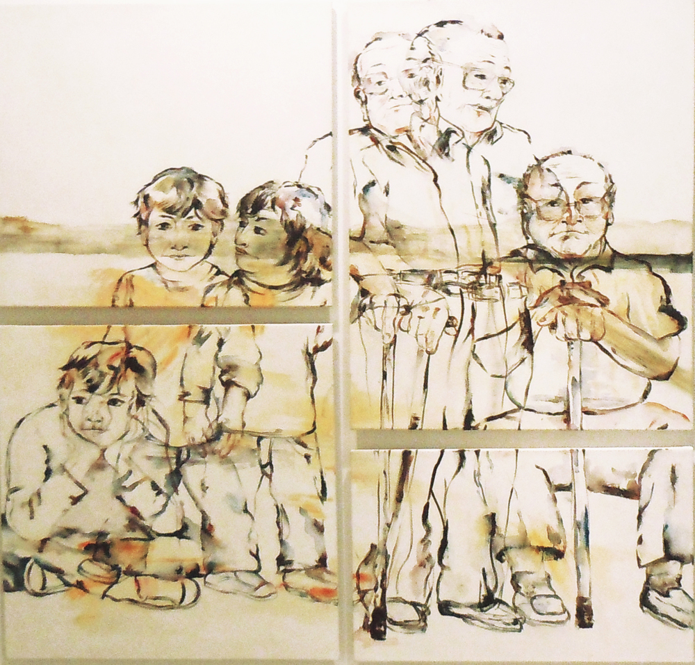 Prólogo y epilogo  (triptych) 2011 oil on canvas 140 x 150 cm