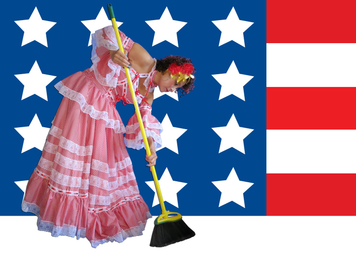Maid in the USA  (2012), mixed media