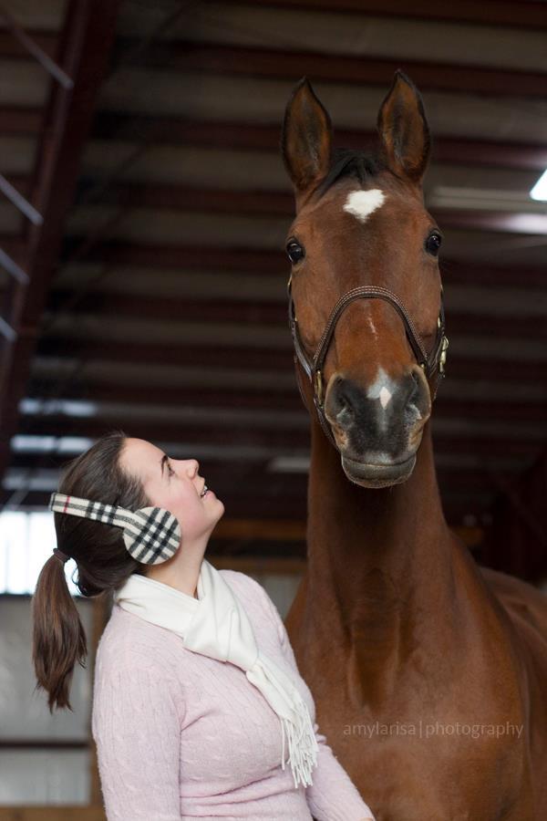 With my amazing Hanoverian mare, Wyoming