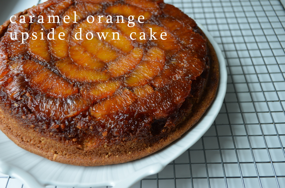 Caramel Orange Upside Down Cake