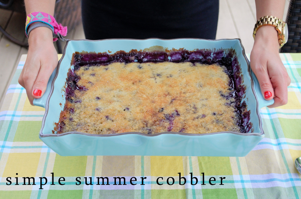 Simple Summer Cobbler