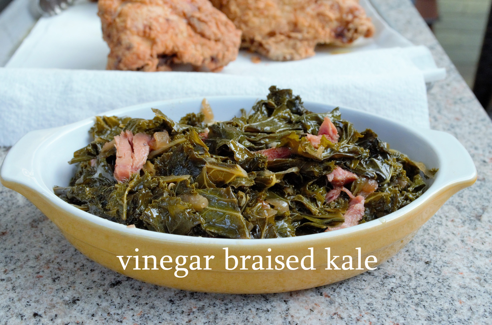 vinegar braised kale