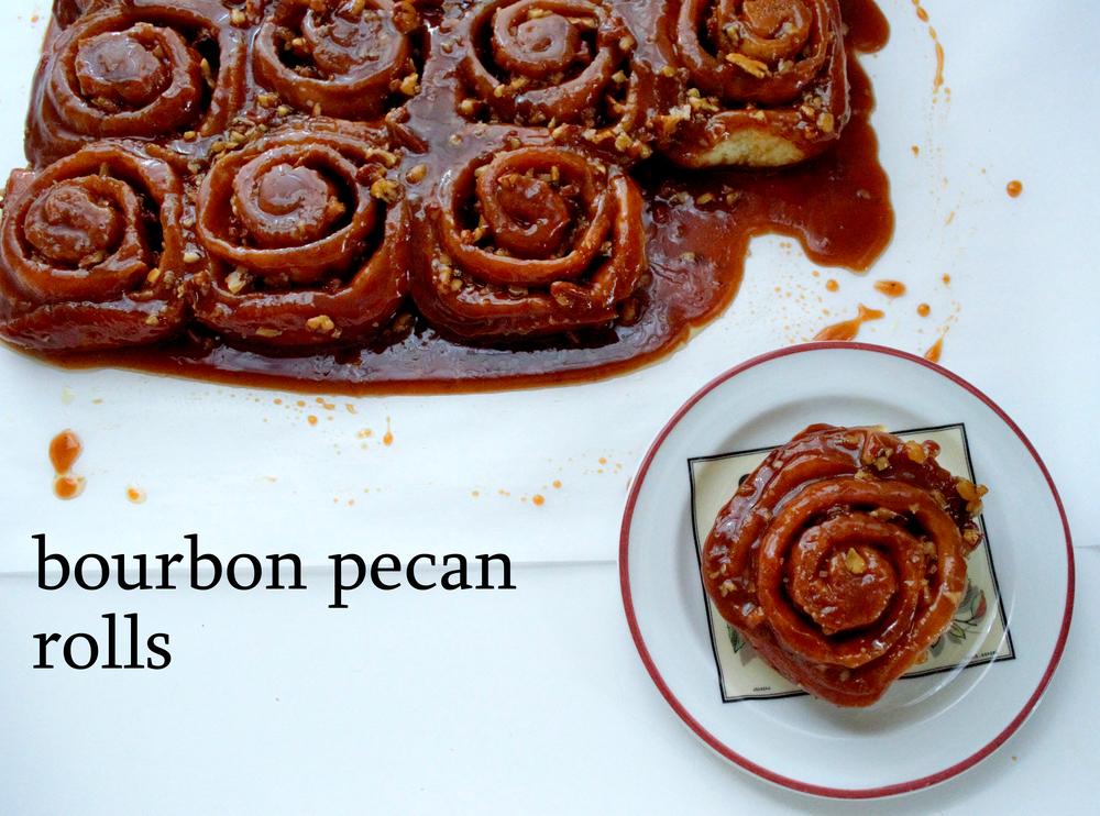 Bourbon pecan rolls