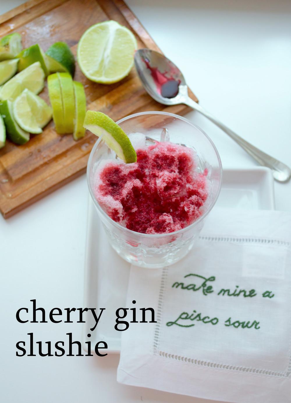 Cherry Gin Slushie