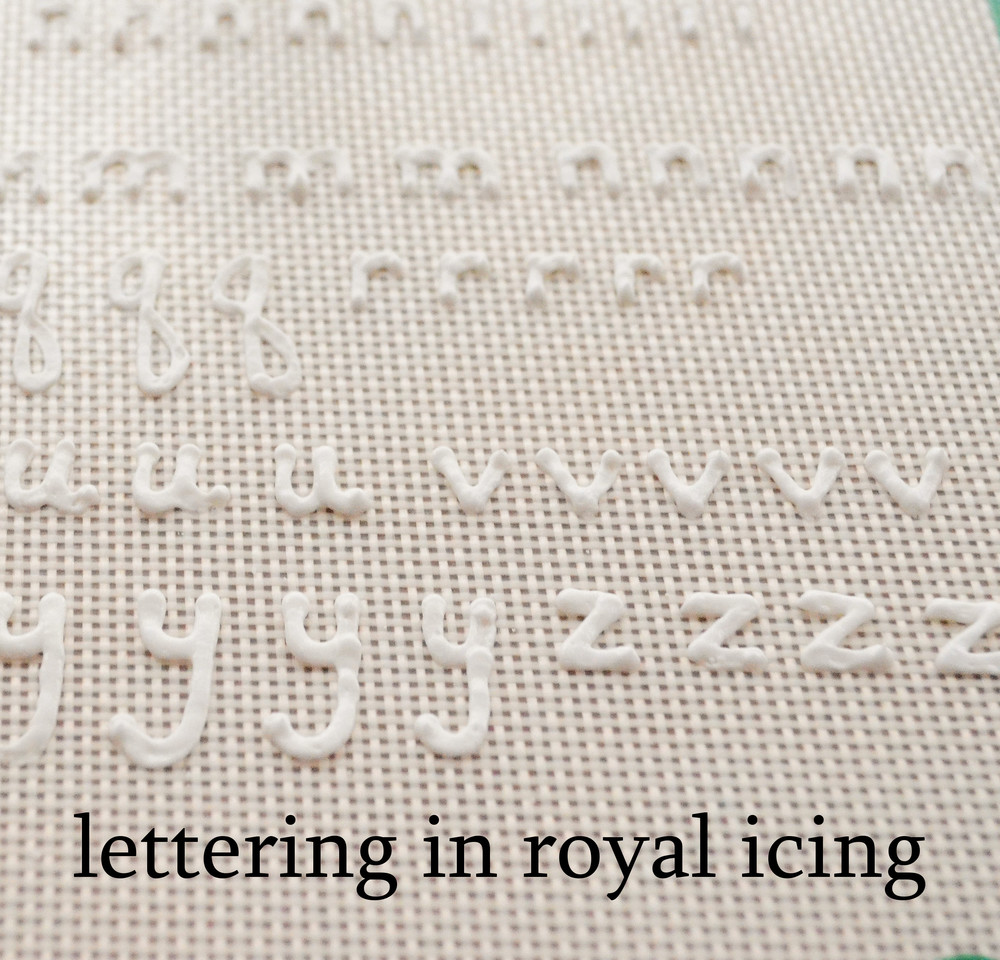 royal icing lettering